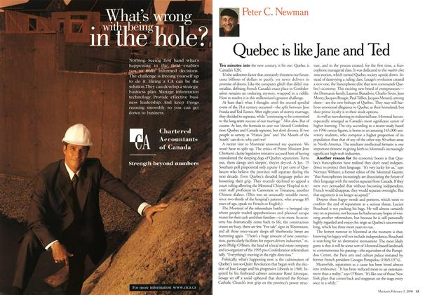 Article Preview: Quebec is like Jane and Ted, February 2000 | Maclean's