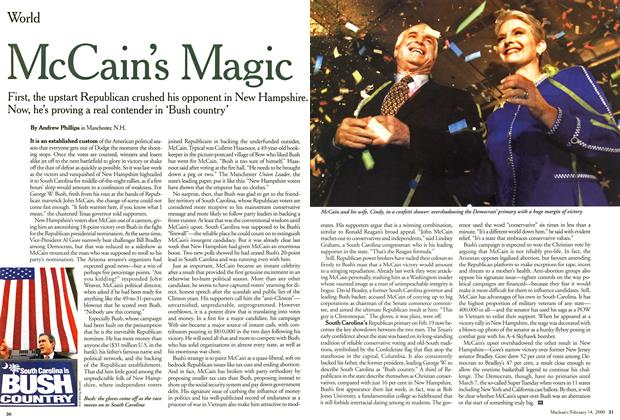 Article Preview: McCain's Magic, February 2000 | Maclean's