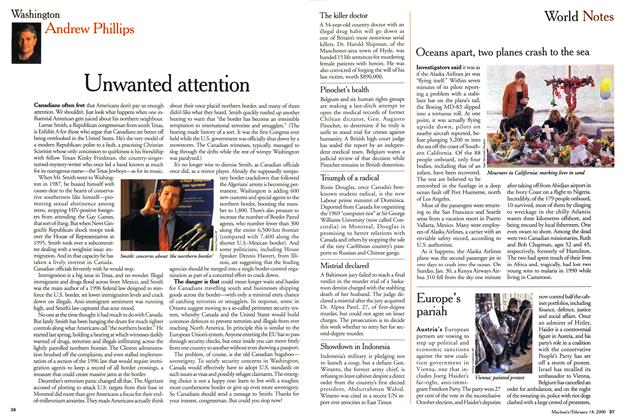 Article Preview: Unwanted attention, February 2000 | Maclean's