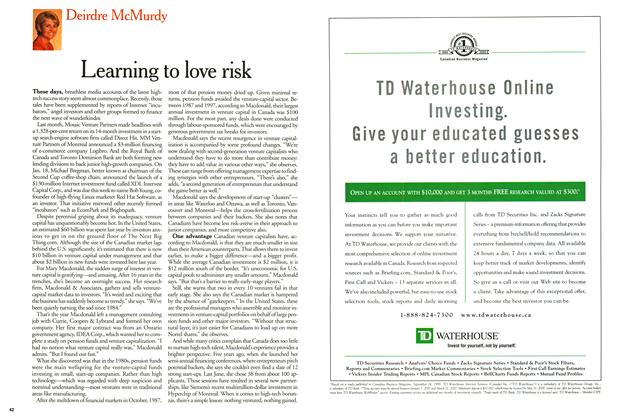 Article Preview: Learning to love risk, February 2000 | Maclean's