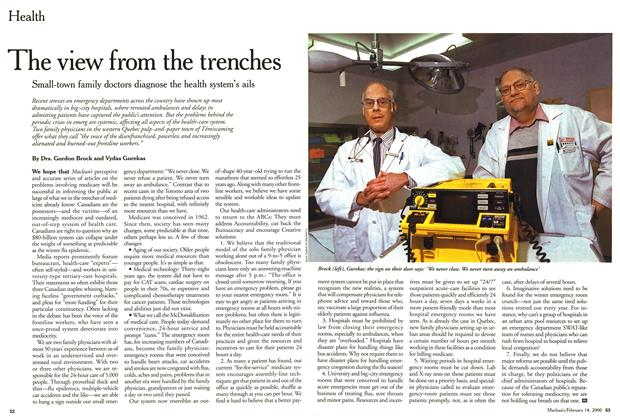 Article Preview: The view from the trenches, February 2000 | Maclean's