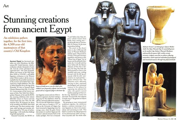 Article Preview: Stunning creations from ancient Egypt, February 2000 | Maclean's