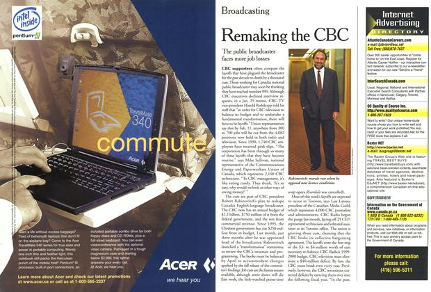 Article Preview: Remaking the CBC, February 2000 | Maclean's