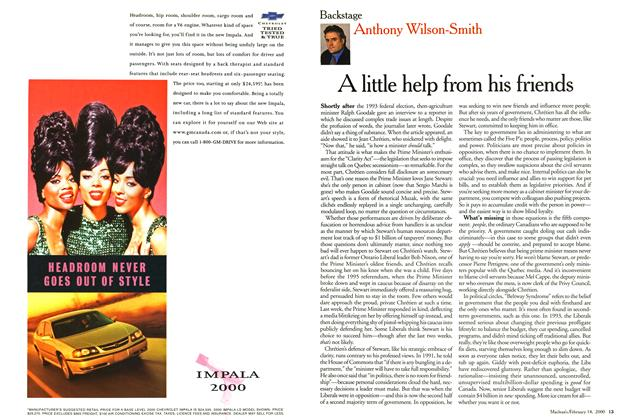 Article Preview: A little help from his friends, February 2000 | Maclean's