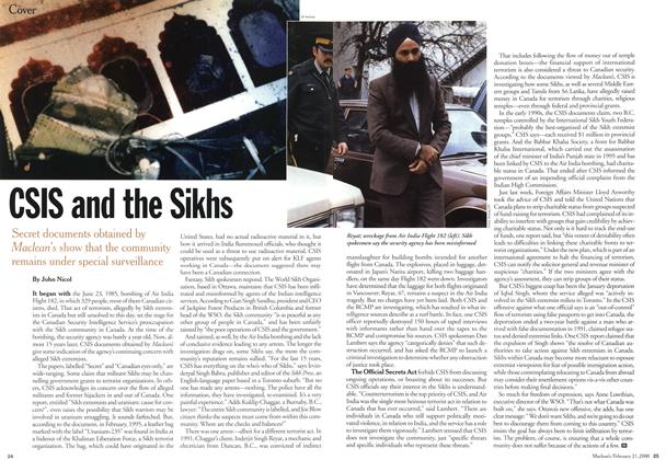 Article Preview: CSIS and the Sikhs, February 21,2000 2000 | Maclean's