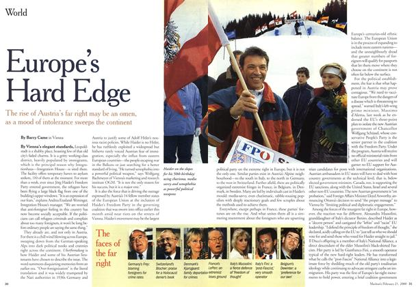 Article Preview: Europe's Hard Edge, February 21,2000 2000 | Maclean's