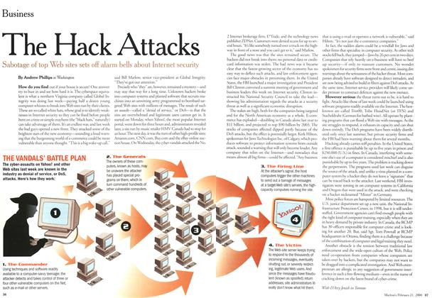 Article Preview: The Hack Attacks, February 21,2000 2000 | Maclean's