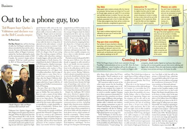 Article Preview: Out to be a phone guy, too, February 21,2000 2000 | Maclean's