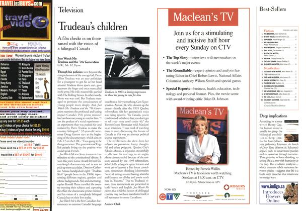 Article Preview: Trudeau's children, February 21,2000 2000 | Maclean's