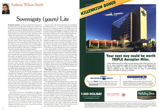 Article Preview: Sovereignty (yawn) Lite, February 21,2000 2000 | Maclean's