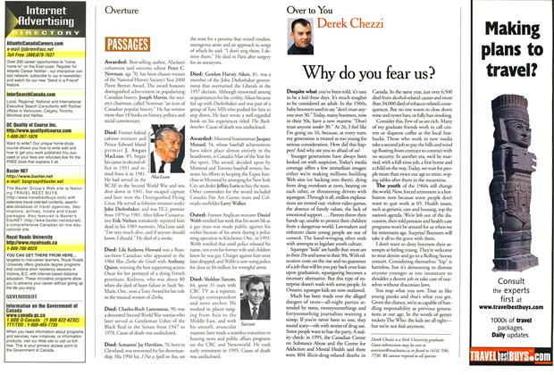 Article Preview: Why do you fear us?, February 2000   Maclean's