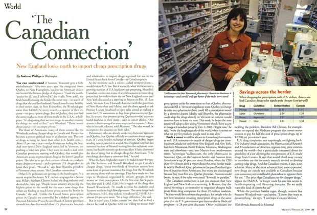 "Article Preview: ""The Canadian Connection', February 2000 