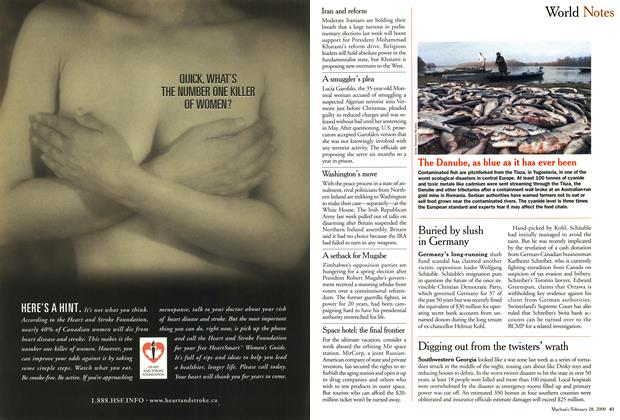 Article Preview: World Notes, February 2000 | Maclean's