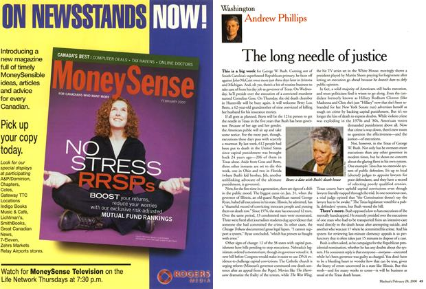 Article Preview: The long needle of justice, February 2000 | Maclean's