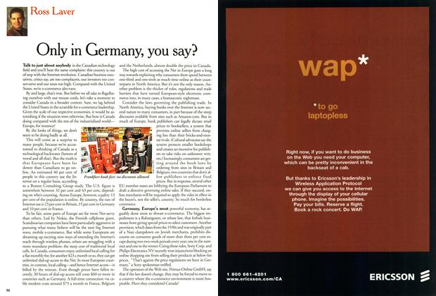 Article Preview: Only in Germany, you say?, February 2000 | Maclean's