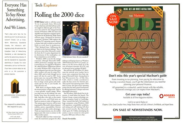 Article Preview: Rolling the 2000 dice, February 2000 | Maclean's