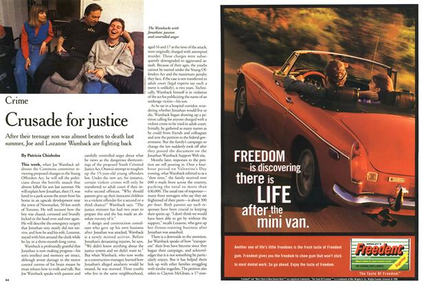 Article Preview: Crusade for justice, February 2000 | Maclean's