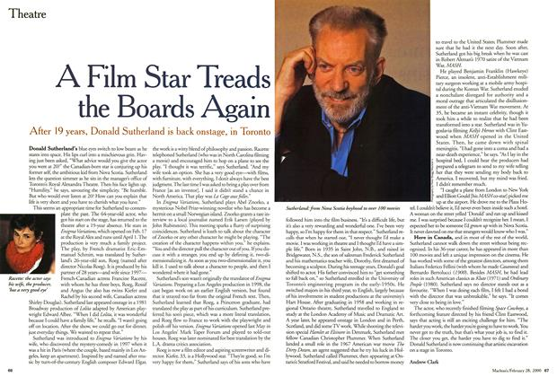 Article Preview: A Film Star Treads the Boards Again, February 2000 | Maclean's