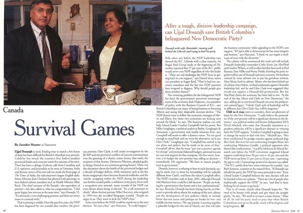 Article Preview: Survival Games, March 2000 | Maclean's