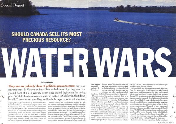 Article Preview: WATER WARS, March 2000 | Maclean's