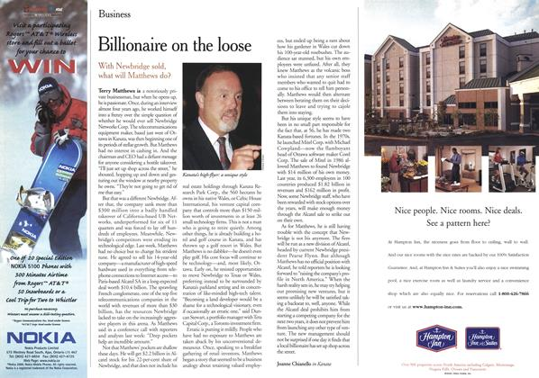 Article Preview: Billionaire on the loose, March 2000 | Maclean's