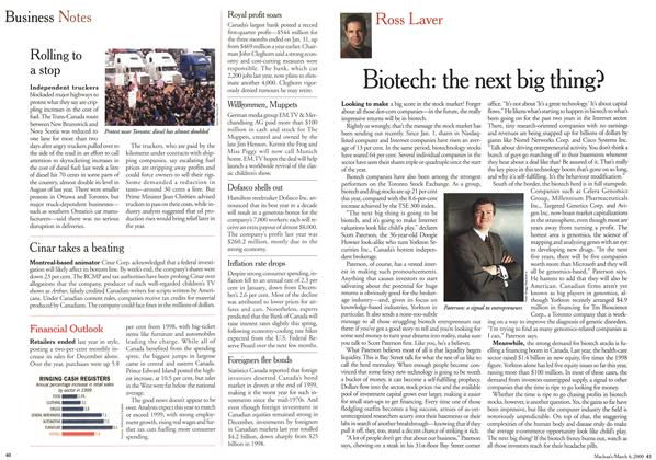 Article Preview: Biotech: the next big thing?, March 2000 | Maclean's