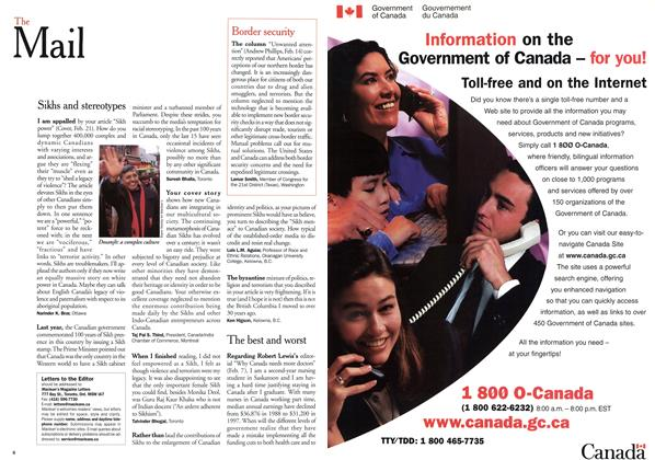 Article Preview: The Mail, March 2000 | Maclean's