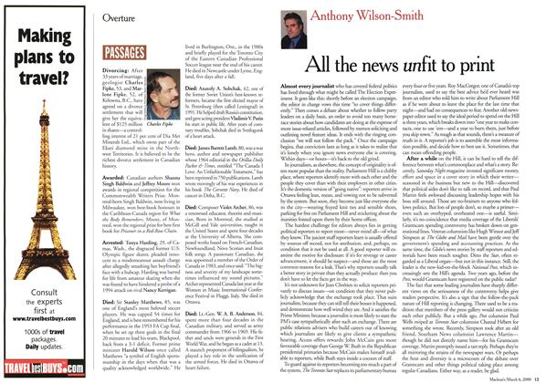 Article Preview: All the news unfit to print, March 2000 | Maclean's