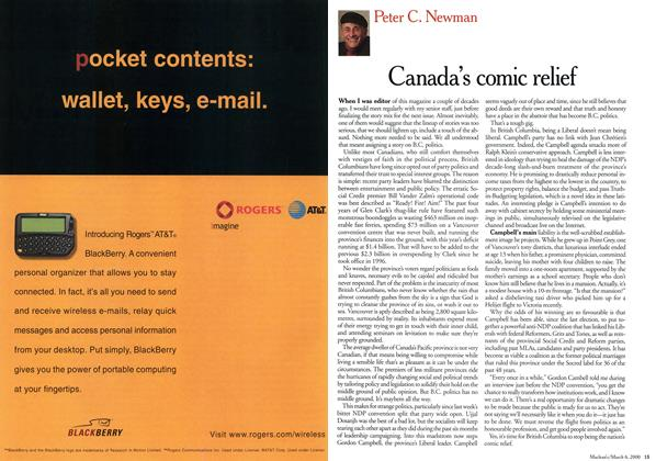 Article Preview: Canada's comic relief, March 2000 | Maclean's