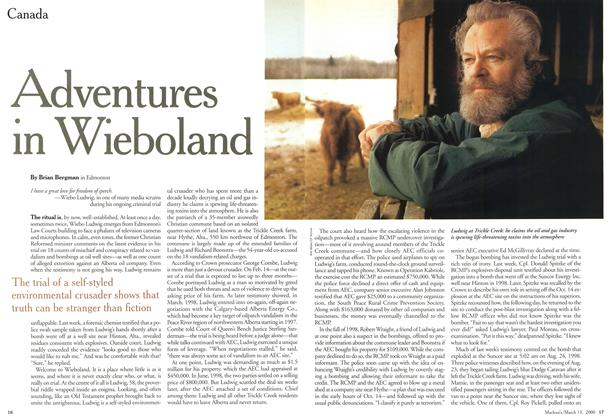 Article Preview: Adventures in Wieboland, March 2000 | Maclean's