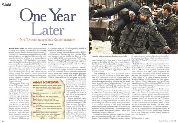 Article Preview: One Year Later, March 2000 | Maclean's