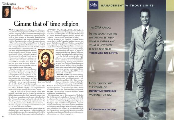 Article Preview: Gimme that ol' time religion, March 2000 | Maclean's