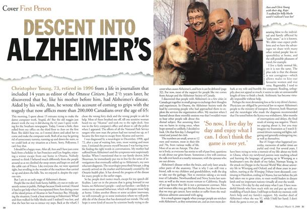 Article Preview: DESCENT INTO ALZHEIMER'S, March 2000 | Maclean's