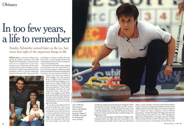 Article Preview: In too few years, a life to remember, March 2000 | Maclean's