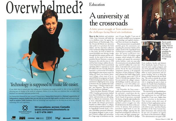 Article Preview: A university at the crossroads, March 2000 | Maclean's