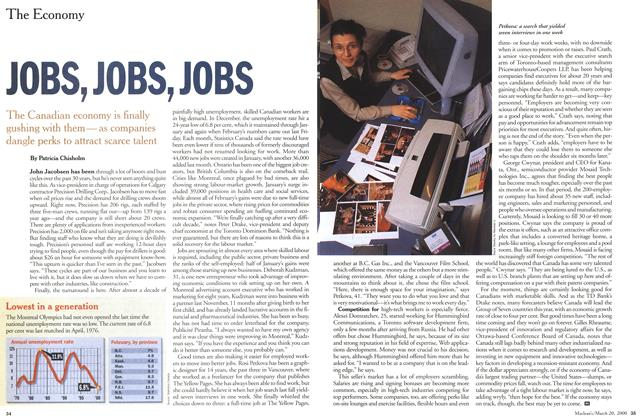 Article Preview: JOBS, JOBS, JOBS, March 2000 | Maclean's