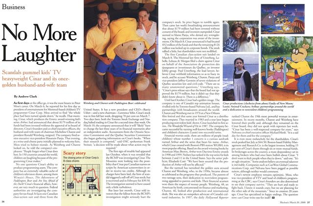 Article Preview: No More Laughter, March 2000 | Maclean's