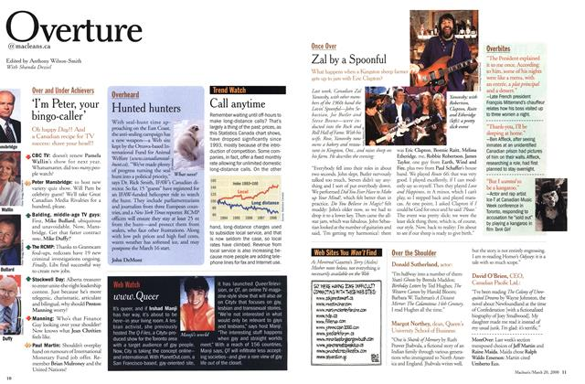 Article Preview: Overture, March 2000   Maclean's