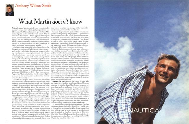 Article Preview: What Martin doesn't know, March 2000 | Maclean's