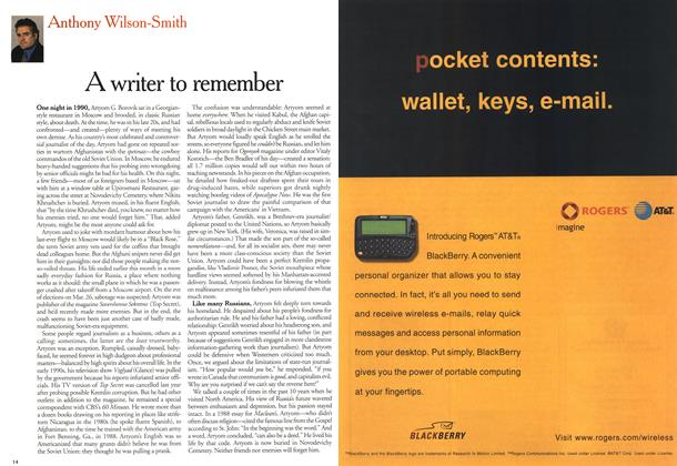 Article Preview: A writer to remember, March 2000 | Maclean's