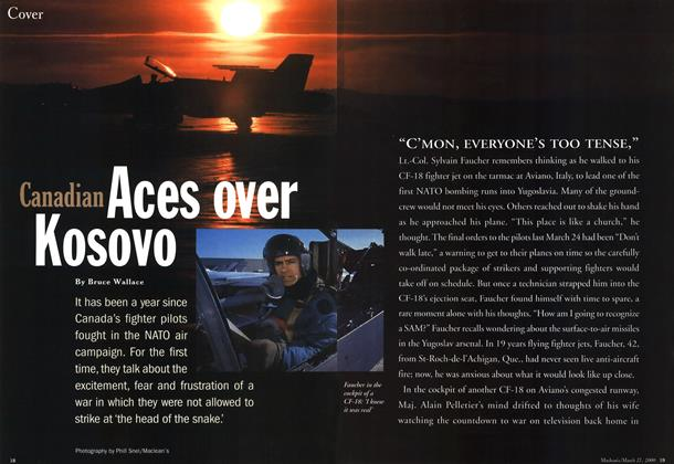 Article Preview: Canadian Aces over Kosovo, March 2000 | Maclean's