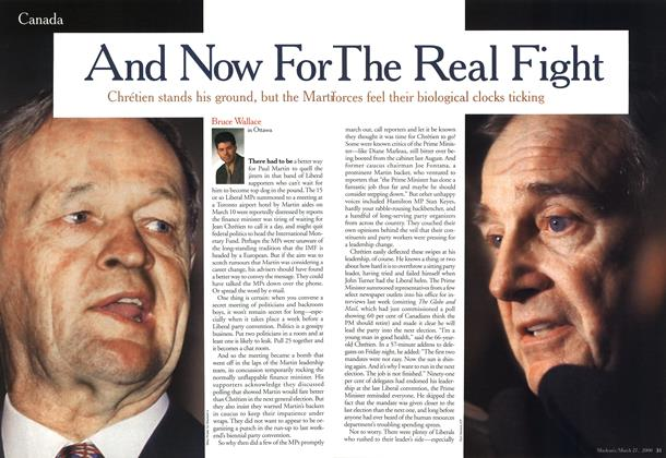 Article Preview: And Now For The Real Fight, March 2000 | Maclean's
