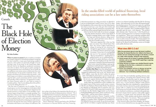 Article Preview: The Black Hole of Election Money, March 2000 | Maclean's