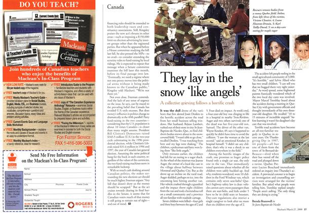 Article Preview: They lay in the snow 'like angels', March 2000 | Maclean's