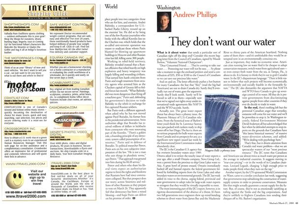 Article Preview: They don't want our water, March 2000 | Maclean's