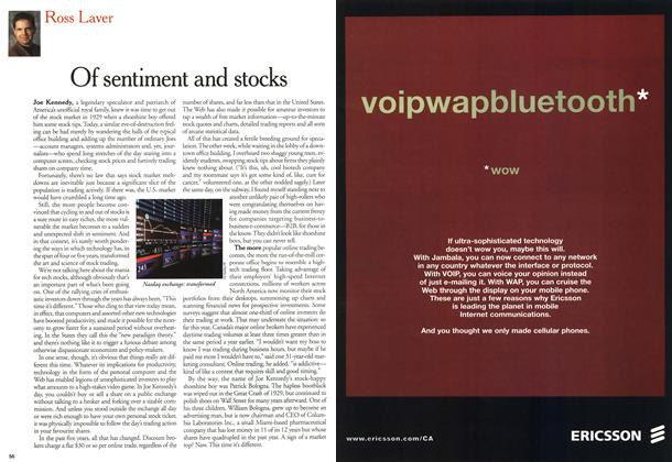 Article Preview: Of sentiment and stocks, March 2000 | Maclean's