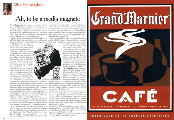 Article Preview: Ah, to be a media magnate, March 2000 | Maclean's