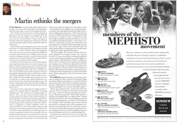 Article Preview: Martin rethinks the mergers, April 3,2000 2000 | Maclean's