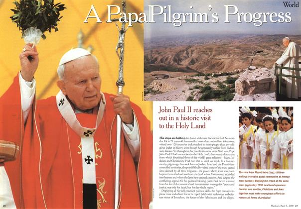 Article Preview: A Papa Pilgrim's Prodress, April 3,2000 2000 | Maclean's