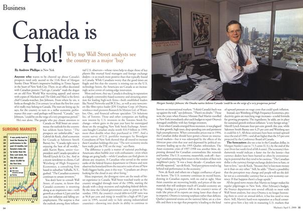 Article Preview: Canada is Hot!, April 3,2000 2000 | Maclean's